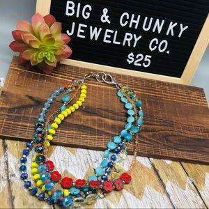 Jewelry - Genuine Czech Glass and Crystal 4 strand Necklace